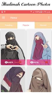 Hijab Muslimah Cartoon Wallpapers HD 1.1.10 screenshots 2