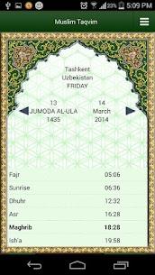 Muslim Taqvimi (Prayer times) 1