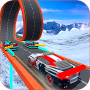 Turbo Car Rush: Mountain stunt Driver