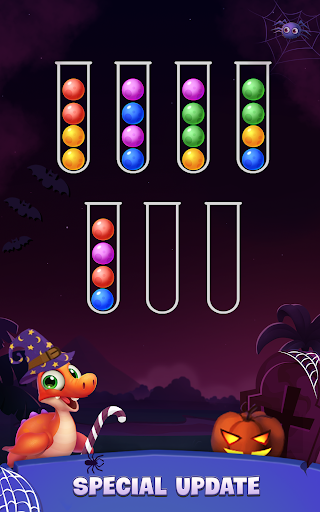 Color Ball Sort Puzzle - Dino Bubble Sorting Game  screenshots 9