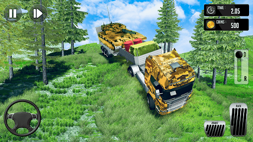 Army Truck Driving Simulator Game-Truck Games 2021 android2mod screenshots 5