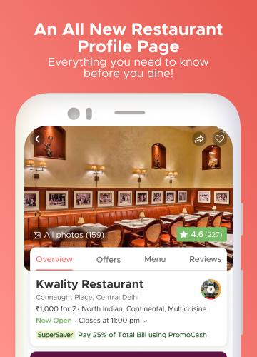 Dineout:Find Restaurants, Deals & Assured Cashback 9.9.8 Screenshots 3
