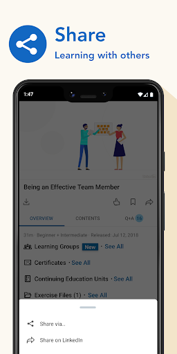LinkedIn Learning: Online Courses to Learn Skills 0.163.25 Screenshots 6