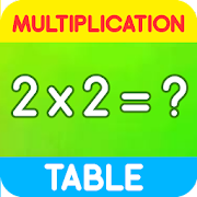Multiplication table for kids. Free math game!