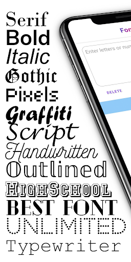 ♔Fonts: Fonts and Typeface for Instagram, Whatsapp  screenshots 1