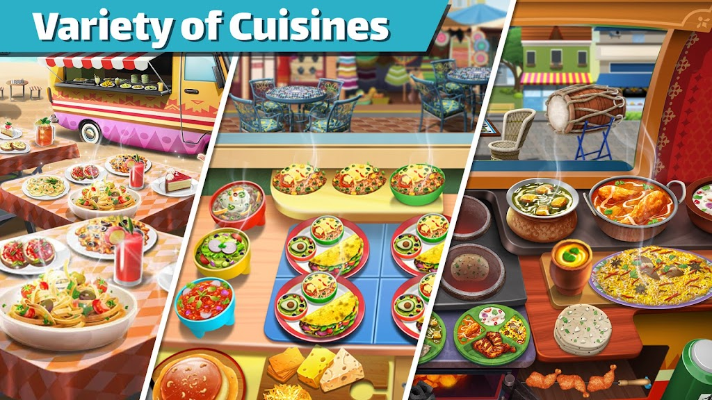 Cooking Games: Food Truck Chef My Cafe Restaurant poster 2