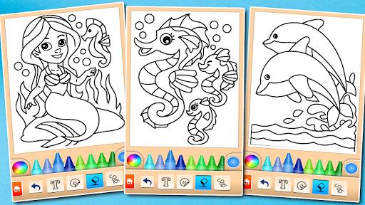 Dolphin and fish coloring book 16.3.2 screenshots 16