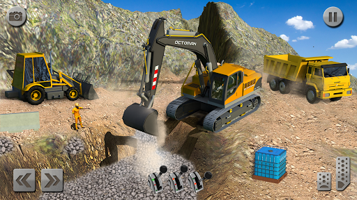 Sand Excavator Truck Driving Rescue Simulator game screenshots 3