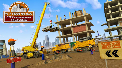 Stickman City Construction Excavator modiapk screenshots 1