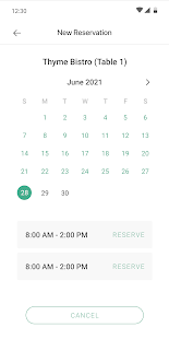 The Ola App: Screen. Check In