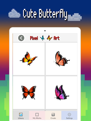 Butterfly color by number : Bugs coloring book 1.4 screenshots 12