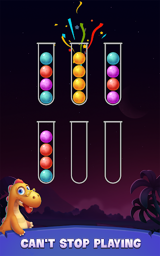Color Ball Sort Puzzle - Dino Bubble Sorting Game  screenshots 5