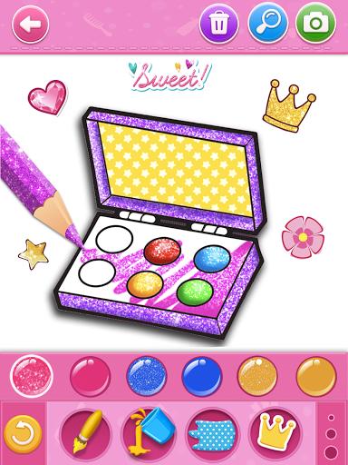 Glitter beauty coloring and drawing apktram screenshots 11