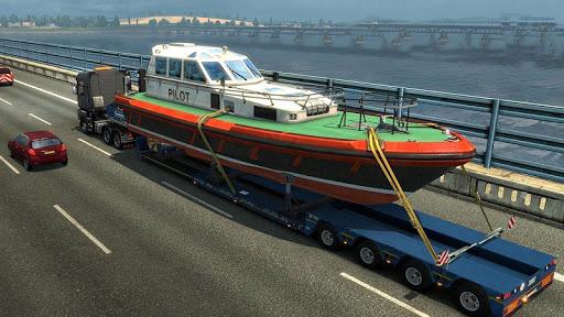 Euro Truck Boat Cargo Driving Simulator 2020  screenshots 2