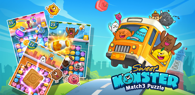 Sweet Monster™ Friends Match 3 Puzzle | Swap Candy 8