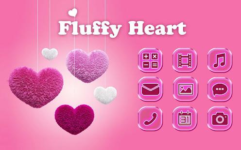 Fluffy diamond Hearts Theme: Pink Comics Launcher 3.9.12 Screenshots 4