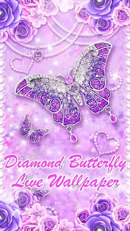 Diamond Butterfly Glitter Live 3d Wallpaper Theme By 3d Live Wallpapers Backgrounds Hd Parallax Team Android Apps Appagg