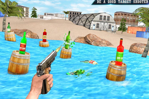 Real Bottle Shooting Free Games: 3D Shooting Games android2mod screenshots 1