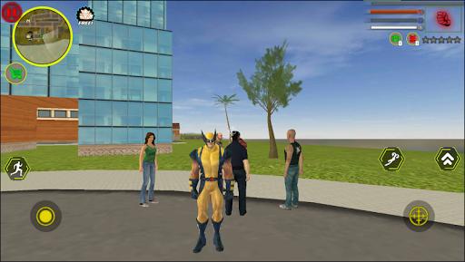 Super wolverne Rope Hero Gangstar OffRoad Crime Screenshot 1