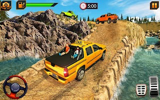 SUV Taxi Yellow Cab: Offroad NY Taxi Driving Game