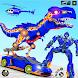 Dino Robot Car Game:Flying Robot Transforming Game