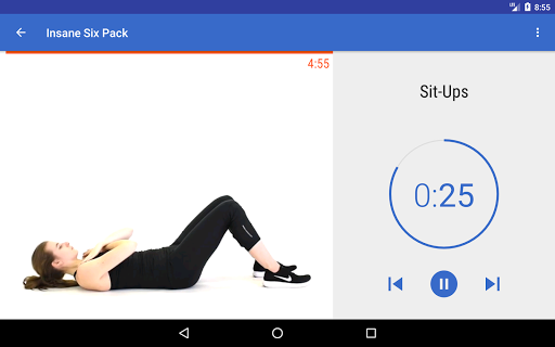 Abs, Core & Back Workout at Home screenshots 6