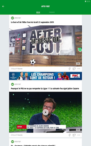 RMC Sport News - Actu Foot et Sports en direct 5.0.2 Screenshots 14