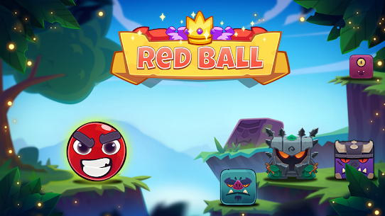 Red Bounce Ball: Jumping and Roller Ball Adventure 1