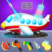Kids Plane Wash Garage: Kids Plane Games