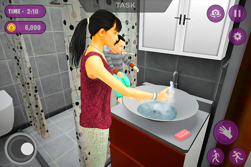 Virtual Twins mom: Mother Simulator Family life 3 screenshots 2