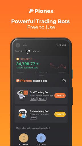 Pionex: Free Trading Bots for Bitcoin, Dogecoin  screenshots 2