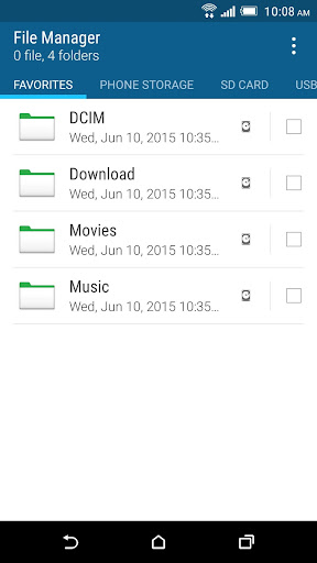 Foto do HTC File Manager