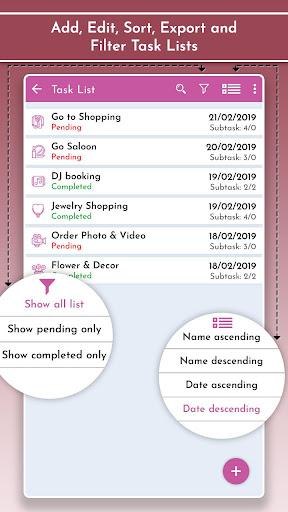 Wedding Planner & Organizer, Guest Checklists 1.2 Screenshots 4
