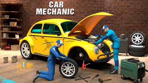 Modern Car Mechanic Offline Games 2020: Car Games apkslow screenshots 15