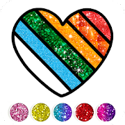 Glitter Heart Love Coloring Book for Girls