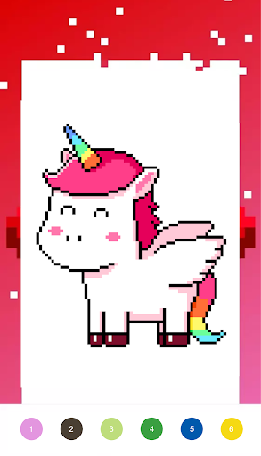 Unicorn Art Pixel - Color By Number  Screenshots 2