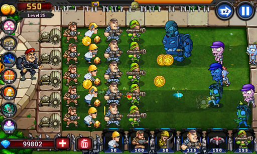 Army vs Zombies : Tower Defense Game screenshots 4