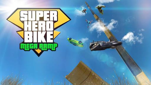 super hero bike mega ramp - racing simulator screenshot 1