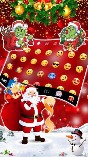 gold red christmas keyboard theme screenshot 3