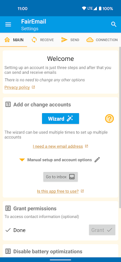 FairEmail, privacy first email  screenshots 1