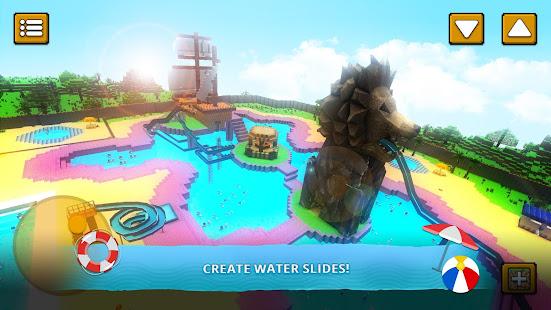 Water Park Craft GO: Waterslide Building Adventure