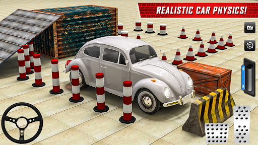 Classic Car Parking Real Driving Test apkpoly screenshots 8