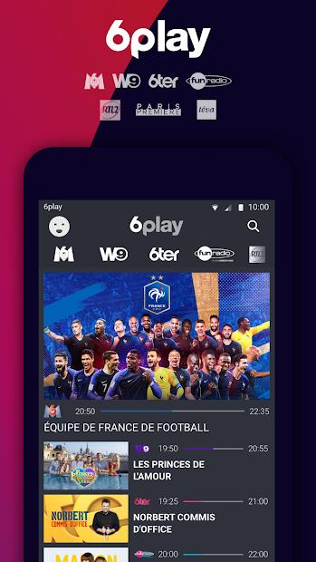 6play, TV en direct et replay Android App Screenshot