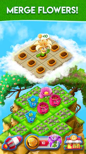 Blooming Flowers : Merge Flowers : Idle Game modiapk screenshots 1