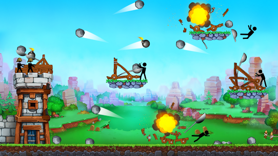 The Catapult — King of Mining Epic Stickman Castle 4