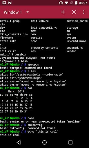 Terminal Emulator Free 1.2.7 Screenshots 2