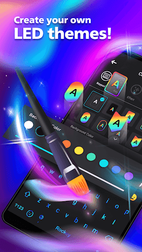 LED NEON Keyboard - Colorful, lighting, RGB, emoji  screenshots 2