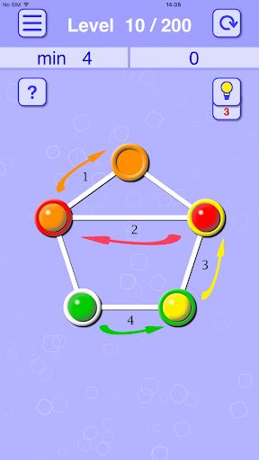 balls lines holes: slide puzzle screenshot 2