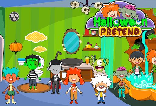 My Pretend Halloween - Trick or Treat Town Friends Apkfinish screenshots 4