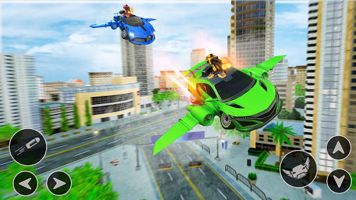 Flying Car Shooting Game: Modern Car Games 2021  Screenshots 12